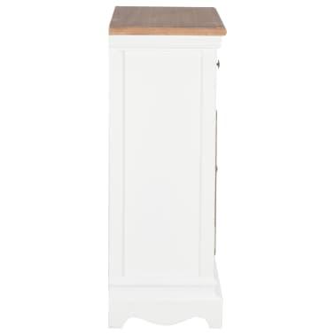 vidaXL Šoninė spintelė, baltos spalvos, 60x30x80cm, medienos masyvas[4/9]