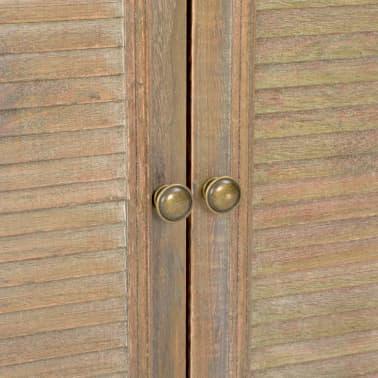 vidaXL Šoninė spintelė, baltos spalvos, 60x30x80cm, medienos masyvas[8/9]