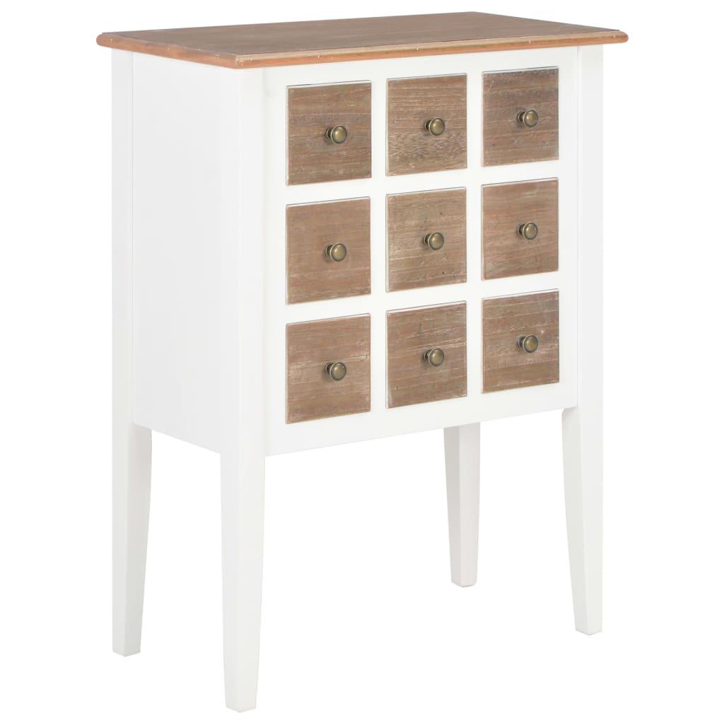 vidaXL Servantă, alb, 54 x 30 x 80 cm, lemn masiv poza 2021 vidaXL