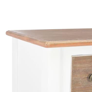 vidaXL Šoninė spintelė, baltos spalvos, 54x30x80cm, medienos masyvas[6/8]