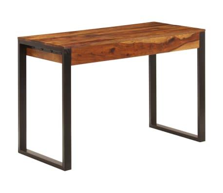 vidaXL Desk 110x55x78 cm Solid Sheesham Wood and Steel[3/10]