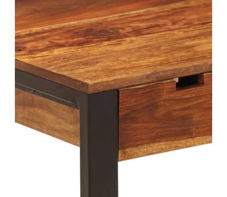 vidaXL Desk 110x55x78 cm Solid Sheesham Wood and Steel[5/10]