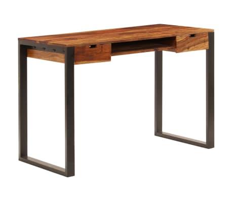 vidaXL Desk 110x55x78 cm Solid Sheesham Wood and Steel[10/10]
