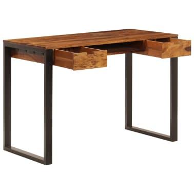 vidaXL Desk 110x55x78 cm Solid Sheesham Wood and Steel[2/10]