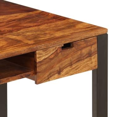 vidaXL Desk 110x55x78 cm Solid Sheesham Wood and Steel[6/10]