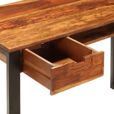 vidaXL Desk 110x55x78 cm Solid Sheesham Wood and Steel[7/10]