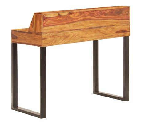"""vidaXL Desk 43.3""""x19.7""""x37"""" Solid Sheesham Wood and Steel[3/12]"""