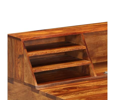 """vidaXL Desk 43.3""""x19.7""""x37"""" Solid Sheesham Wood and Steel[5/12]"""