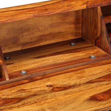 """vidaXL Desk 43.3""""x19.7""""x37"""" Solid Sheesham Wood and Steel[6/12]"""