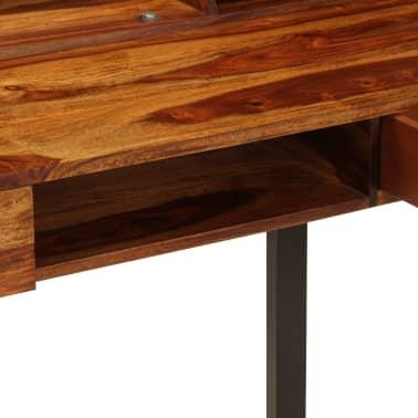 """vidaXL Desk 43.3""""x19.7""""x37"""" Solid Sheesham Wood and Steel[8/12]"""