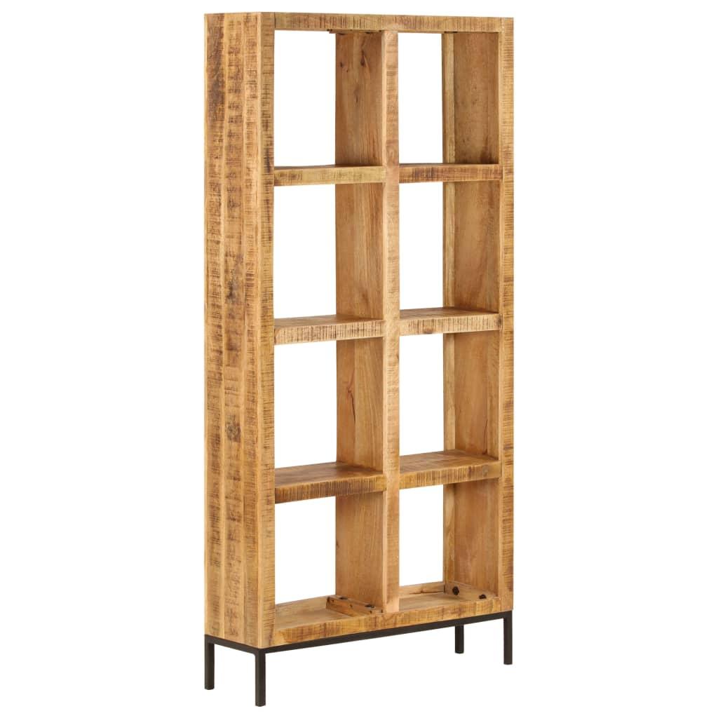 """Bookshelf 31.5""""x9.8""""x68.9"""" Solid Mango Wood"""