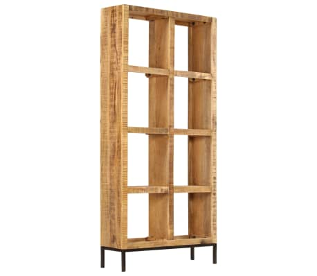 vidaXL Knygų lentyna, 80x25x175cm, mango medienos masyvas[3/12]