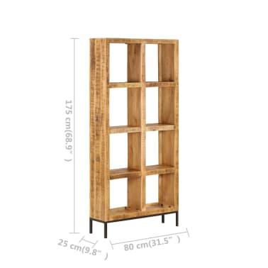 vidaXL Knygų lentyna, 80x25x175cm, mango medienos masyvas[7/12]