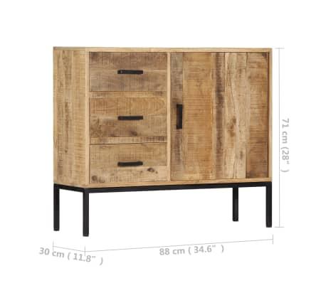"""vidaXL Sideboard 34.6""""x11.8""""x27.9"""" Solid Mango Wood[11/14]"""