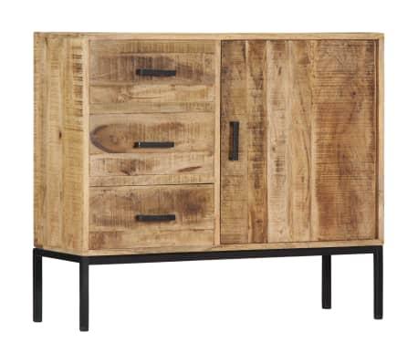 """vidaXL Sideboard 34.6""""x11.8""""x27.9"""" Solid Mango Wood[13/14]"""