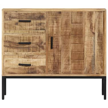 """vidaXL Sideboard 34.6""""x11.8""""x27.9"""" Solid Mango Wood[2/14]"""