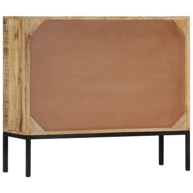 """vidaXL Sideboard 34.6""""x11.8""""x27.9"""" Solid Mango Wood[3/14]"""