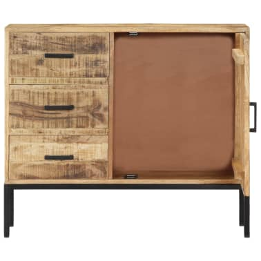 """vidaXL Sideboard 34.6""""x11.8""""x27.9"""" Solid Mango Wood[4/14]"""