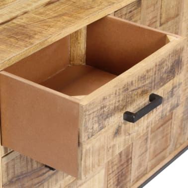 """vidaXL Sideboard 34.6""""x11.8""""x27.9"""" Solid Mango Wood[8/14]"""