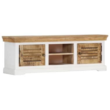 "vidaXL TV Cabinet 46.5""x11.8""x15.7"" Solid Mango Wood[1/11]"