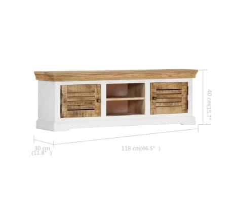 "vidaXL TV Cabinet 46.5""x11.8""x15.7"" Solid Mango Wood[7/11]"