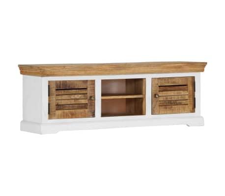 "vidaXL TV Cabinet 46.5""x11.8""x15.7"" Solid Mango Wood[10/11]"