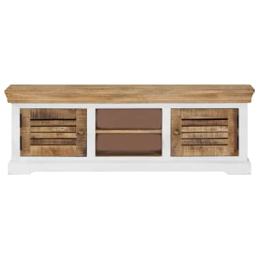 "vidaXL TV Cabinet 46.5""x11.8""x15.7"" Solid Mango Wood[2/11]"