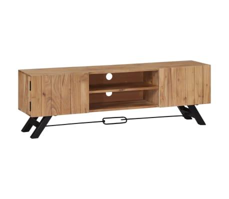 "vidaXL TV Cabinet 55.1""x11.8""x17.7"" Solid Acacia Wood"