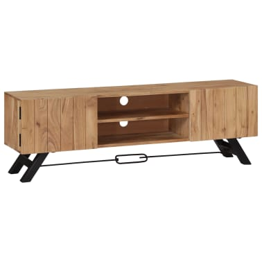 "vidaXL TV Cabinet 55.1""x11.8""x17.7"" Solid Acacia Wood[1/12]"