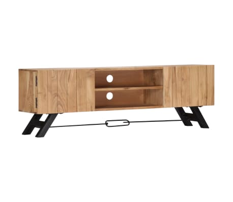 "vidaXL TV Cabinet 55.1""x11.8""x17.7"" Solid Acacia Wood[11/12]"