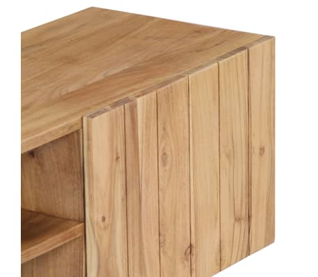 "vidaXL TV Cabinet 55.1""x11.8""x17.7"" Solid Acacia Wood[5/12]"