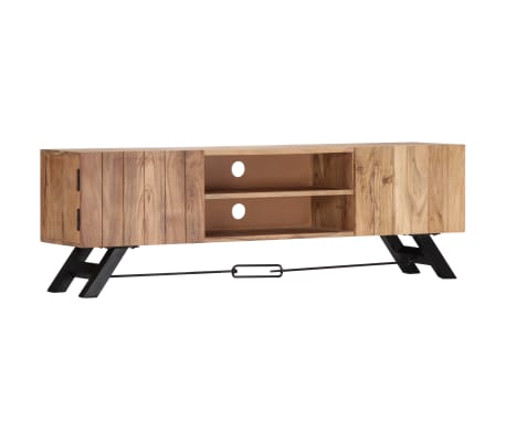 "vidaXL TV Cabinet 55.1""x11.8""x17.7"" Solid Acacia Wood[9/12]"