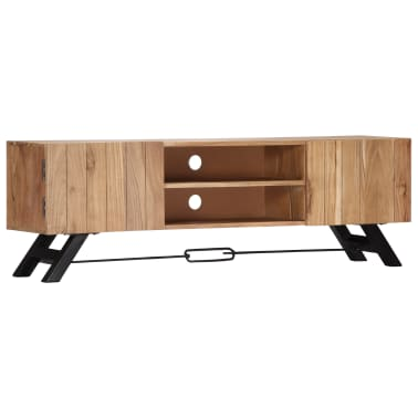 "vidaXL TV Cabinet 55.1""x11.8""x17.7"" Solid Acacia Wood[12/12]"