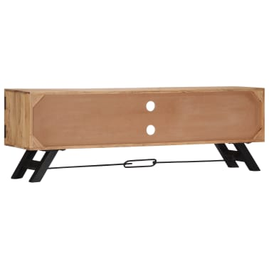 "vidaXL TV Cabinet 55.1""x11.8""x17.7"" Solid Acacia Wood[3/12]"