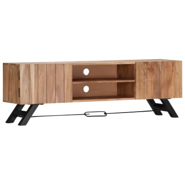 "vidaXL TV Cabinet 55.1""x11.8""x17.7"" Solid Acacia Wood[10/12]"