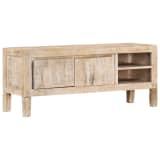 "vidaXL TV Cabinet 46.5""x13.8""x18.1"" Solid Mango Wood"
