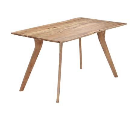 """vidaXL Dining Table 55.1""""x31.5""""x29.9"""" Solid Acacia Wood"""