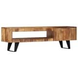 "vidaXL TV Cabinet 55.1""x11.8""x15.7"" Solid Sheesham Wood"