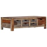 "vidaXL Coffee Table Gray 39.4""x21.7""x11.8"" Solid Sheesham Wood"
