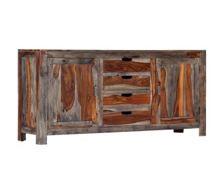 vidaXL Buffet Gris 160 x 40 x 75 cm Bois de Sesham massif