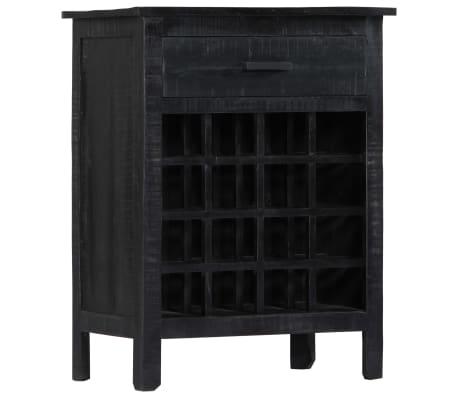 vidaXL Wijnrek 56x35x75 cm massief mangohout zwart[1/11]