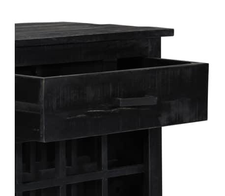 vidaXL Wijnrek 56x35x75 cm massief mangohout zwart[5/11]