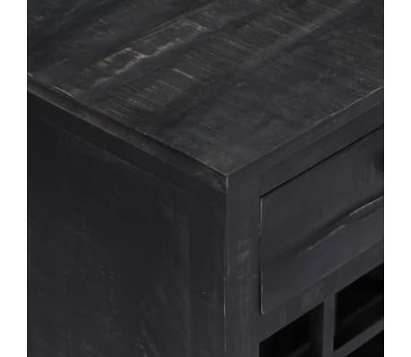 vidaXL Wijnrek 56x35x75 cm massief mangohout zwart[7/11]