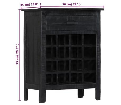 vidaXL Wijnrek 56x35x75 cm massief mangohout zwart[8/11]