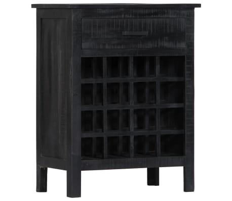vidaXL Wijnrek 56x35x75 cm massief mangohout zwart[9/11]