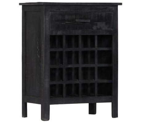 vidaXL Wijnrek 56x35x75 cm massief mangohout zwart[10/11]