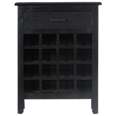 vidaXL Wijnrek 56x35x75 cm massief mangohout zwart[2/11]