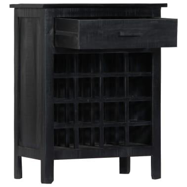 vidaXL Wijnrek 56x35x75 cm massief mangohout zwart[3/11]