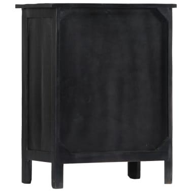 vidaXL Wijnrek 56x35x75 cm massief mangohout zwart[4/11]