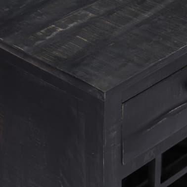 vidaXL Casier à bouteilles Noir 56x35x75 cm Bois de manguier massif[7/11]
